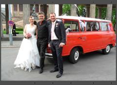 Hochzeitsfahrt Brautpaar
